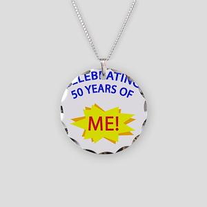 CelebratingMeBlue 50 Necklace Circle Charm