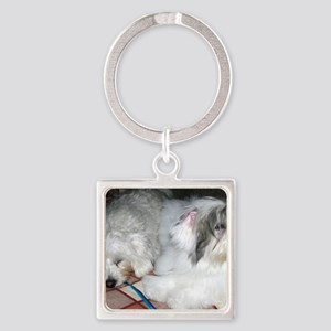 Rough Day Coton Square Keychain
