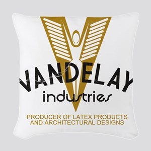 VandelayIdFaded Woven Throw Pillow
