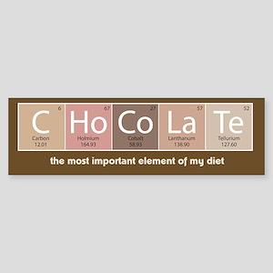 Chocolate periodic table gifts cafepress chocolate bumper sticker urtaz Gallery