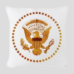 Gold Presidential Seal Woven Throw Pillow