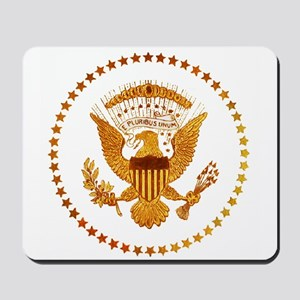 Gold Presidential Seal Mousepad