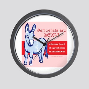Democrats Are Sexy! Wall Clock