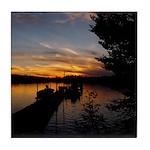 Spring Lake Sunset Tile Coaster