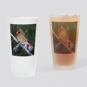 Female Cardinal Drinking Glass