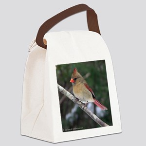 Female Cardinal Canvas Lunch Bag