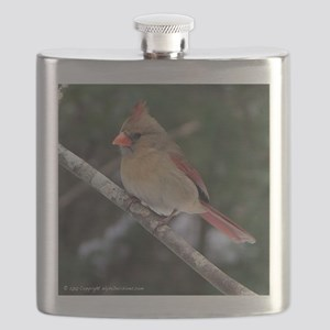 Female Cardinal Flask