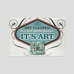 hot flashesBlu Rectangle Magnet