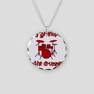 drums_mygrandpaisthedrummer Necklace Circle Charm