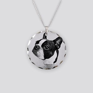 Boston Terrier Necklace Circle Charm