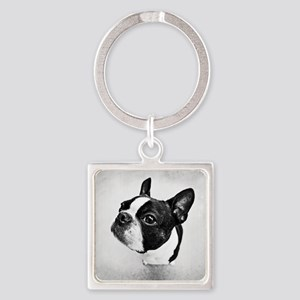 Boston Terrier Square Keychain
