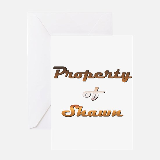 Property Of Shawn Male Greeting Card