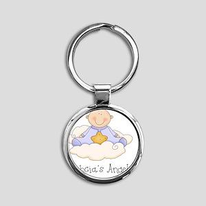 babcias angel boy Round Keychain