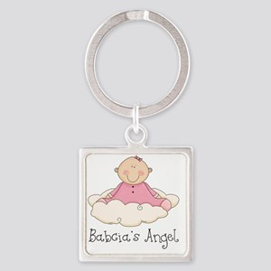babcias angel girl Square Keychain