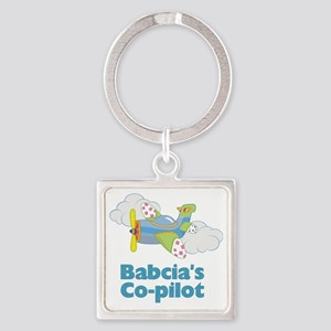 babacias copilot Square Keychain