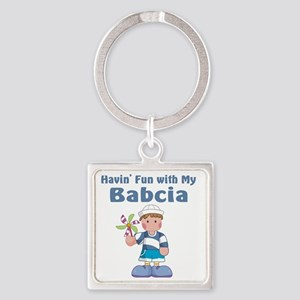 fun with babcia Square Keychain