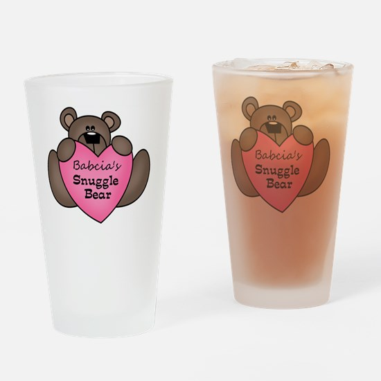 snuggle bear Drinking Glass