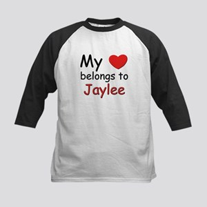 My heart belongs to jaylee Kids Baseball Jersey