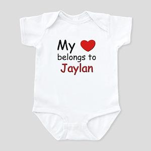 My heart belongs to jaylan Infant Bodysuit
