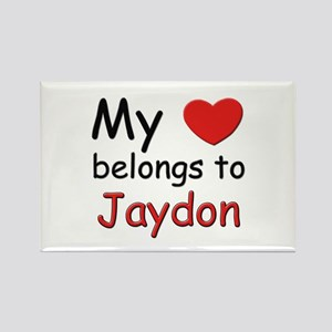 My heart belongs to jaydon Rectangle Magnet