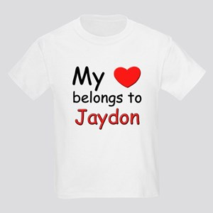 My heart belongs to jaydon Kids T-Shirt