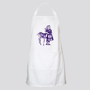 Alice with Fawn Purple Apron