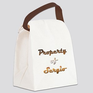 Property Of Sergio Male Canvas Lunch Bag