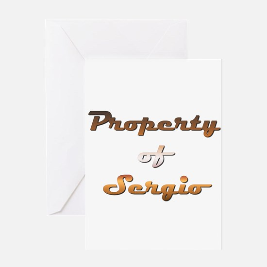 Property Of Sergio Male Greeting Card