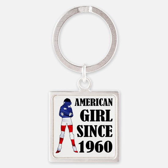 AmericanGirl 1960 Square Keychain