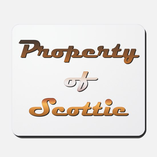 Property Of Scottie Male Mousepad