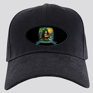 Hula Girl Black Cap