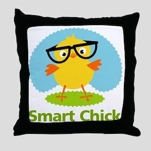 smart-chick Throw Pillow