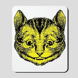 Cheshire Cat Yellow Mousepad