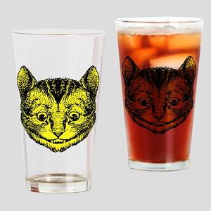 Cheshire Cat Yellow Drinking Glass