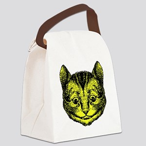 Cheshire Cat Yellow Canvas Lunch Bag