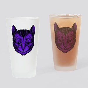 Cheshire Cat Purple Fill Drinking Glass