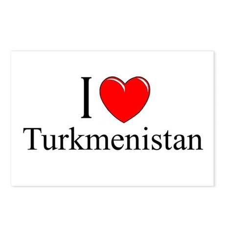 """I Love Turkmenistan"" Postcards (Package of 8)"