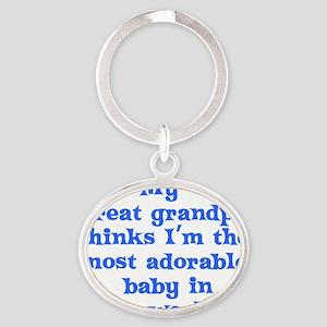 2-great_grandpa Oval Keychain