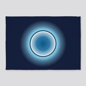Blue Saucer 5'x7'Area Rug