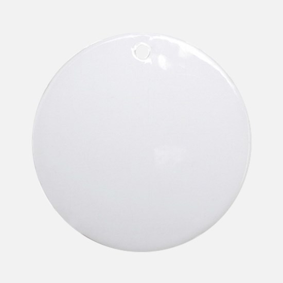 This is a big deal white Round Ornament