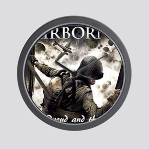 2-Airborne.moh.mousepad Wall Clock