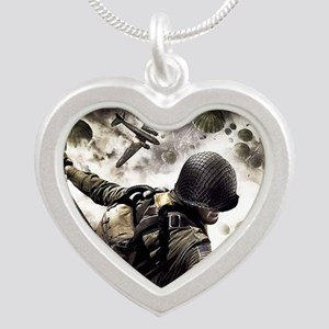 2-Airborne.moh.mousepad Silver Heart Necklace