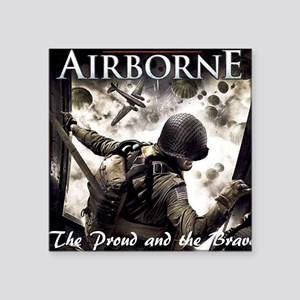 "2-Airborne.moh.mousepad Square Sticker 3"" x 3"""