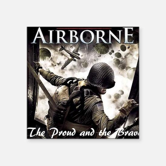 "2-Airborne.moh.mousepad Square Sticker 3"" x 3"""