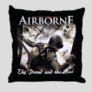 2-Airborne.moh.mousepad Throw Pillow