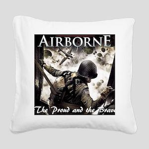 2-Airborne.moh.mousepad Square Canvas Pillow