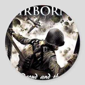 2-Airborne.moh.mousepad Round Car Magnet