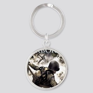 2-Airborne.moh.mousepad Round Keychain