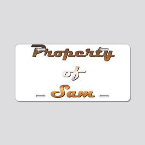 Property Of Sam Male Aluminum License Plate