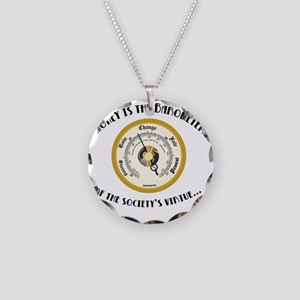 barometer Necklace Circle Charm